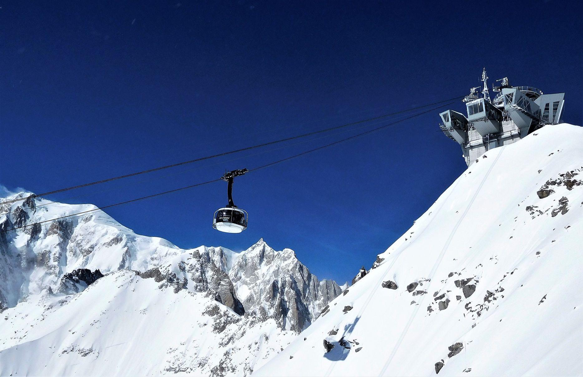 Con Skyway Monte Bianco Sul Tetto D Europa Viavaiblog It